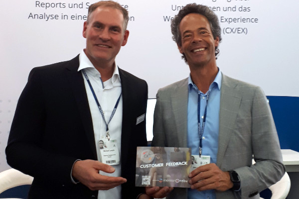 Michael and Eric launching CX360 during Research and Results in Munich, October 2019