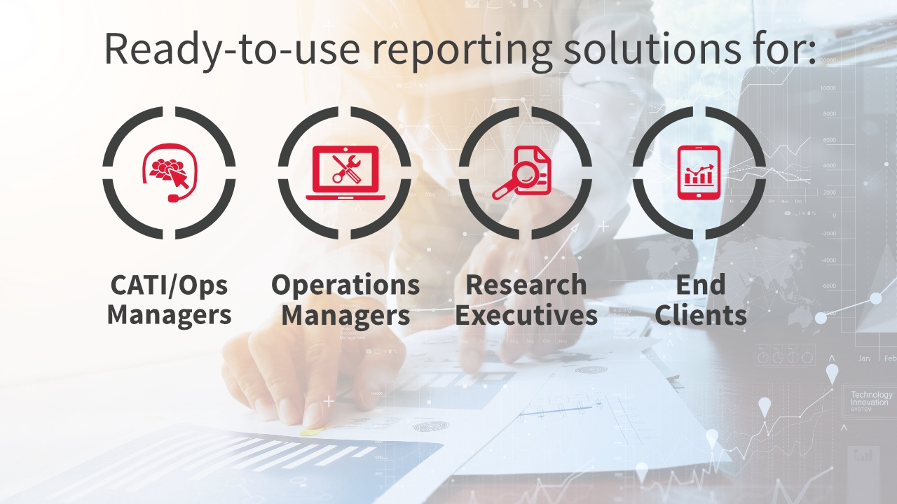Ready-tu-use reporting solutions for different organizational roles in market research companies