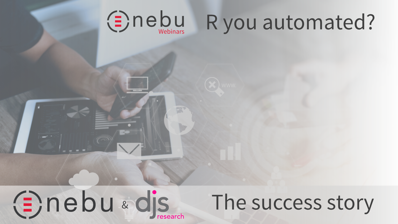 This webinar is foucsed on how Nebu Data Suite can provide you with automation of market research processes