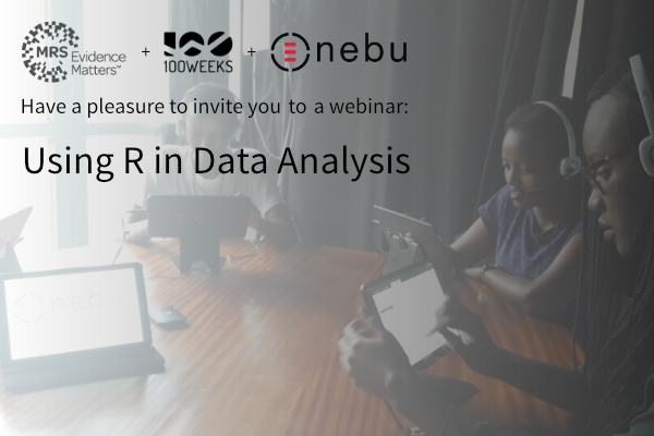 Watch the webinar recording to experience the power of R applied to a real market research project